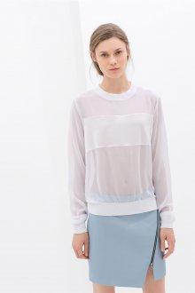 Блузка прозрачная с рукавами