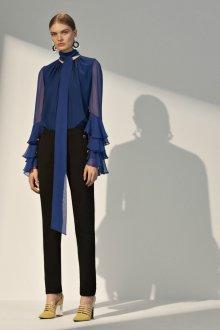 Блузка прозрачная синяя