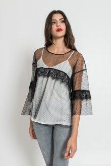 Блузка прозрачная свободная
