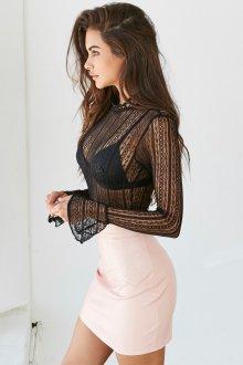 Блузка прозрачная трикотажная