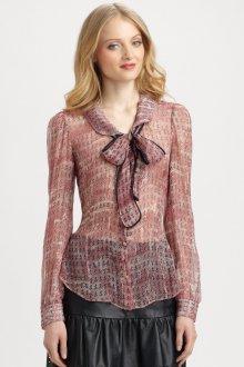 Блузка прозрачная с узором