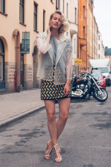 Блузка жакет прозрачная