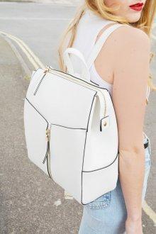 Белый рюкзак с черным