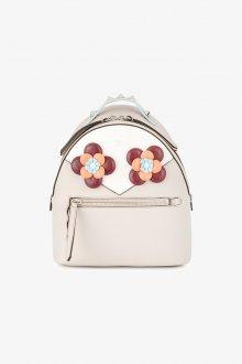 Белый рюкзак цветочный