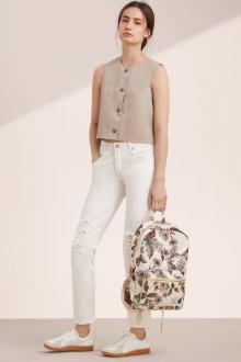 Белый рюкзак с цветами