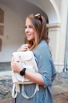 Белый рюкзак дизайн
