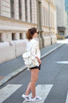 Белый рюкзак городской
