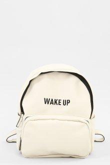 Белый рюкзак с надписью