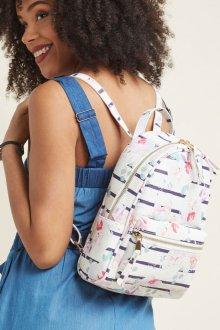 Белый рюкзак с принтом