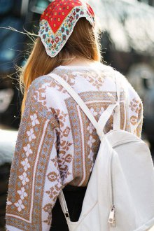 Белый рюкзак текстильный