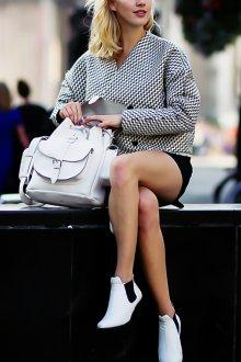 Белый рюкзак тенденции