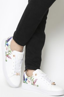Белые кеды с цветами