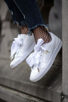 Белые кеды Puma