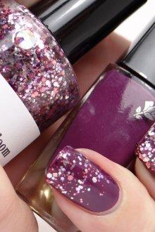 Фиолетовый маникюр блестящий