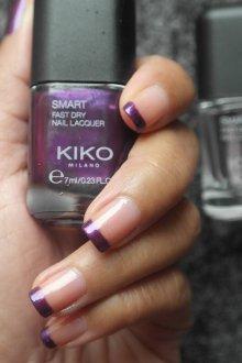 Фиолетовый маникюр френч цветной