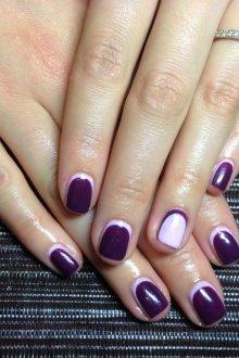 Фиолетовый френч наоборот