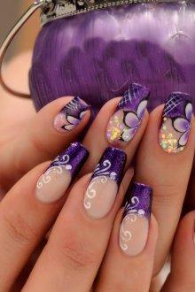 Фиолетовый френч с узором