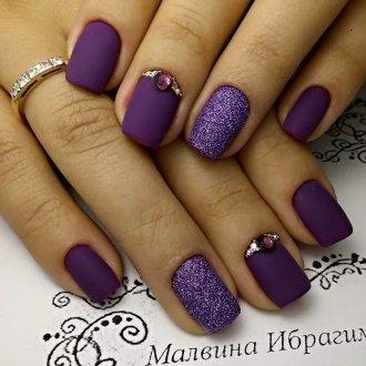 Фиолетовый маникюр идеи