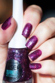 Фиолетовый маникюр на короткие ногти