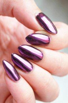Фиолетовый маникюр металлик