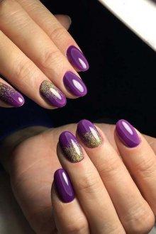 Фиолетовый маникюр тренды