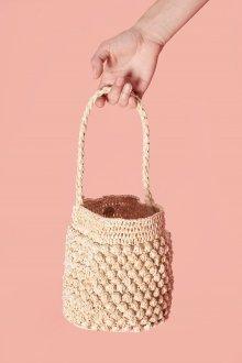 Вязаная сумка цилиндр