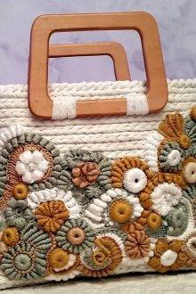 Вязаная сумка цветочная