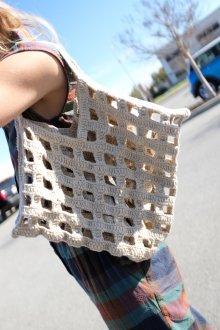 Вязаная сумка с геометрическим рисунком