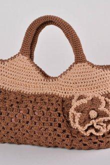 Вязаная сумка коричневая