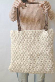 Вязаная сумка квадратная
