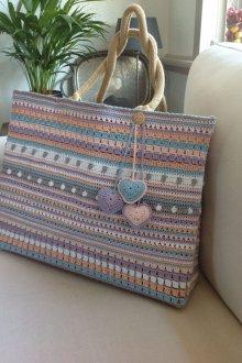 Вязаная сумка летняя