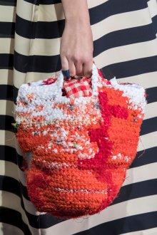 Вязаная сумка оранжевая