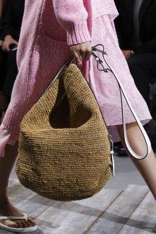 Вязаная сумка пляжная бежевая