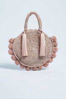 Вязаная сумка с помпонами