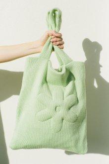 Вязаная сумка светло-зеленая