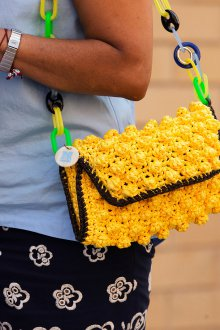 Вязаная сумка как украсить