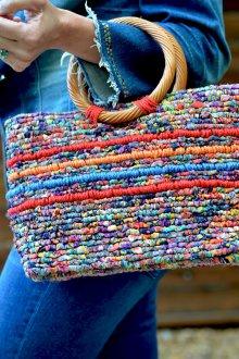 Вязаная сумка вместительная