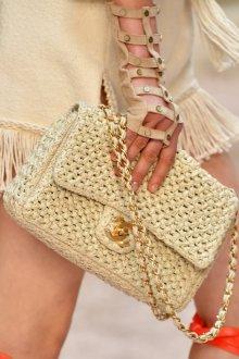 Вязаная сумка с золотом