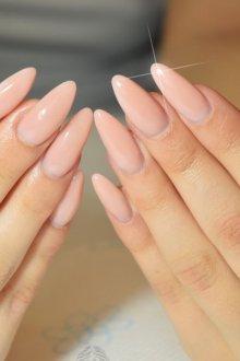 Миндалевидный маникюр на длинные ногти