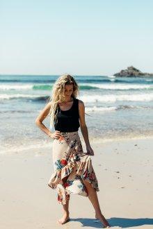 Юбка с запахом пляжная