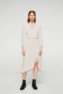 Платье в горошек белое