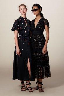 Платье в горошек черное прозрачное