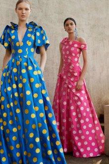 Платье в горошек цветной