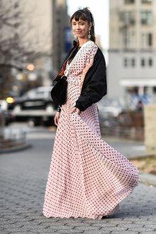 Платье в горошек с курткой