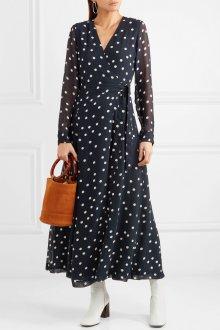 Платье в горошек шифоновое