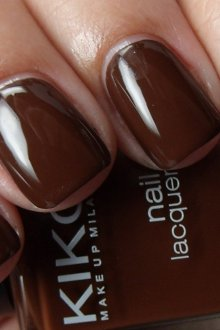 Коричневый маникюр на квадратные ногти