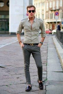 Лоферы мужские лаковые с чем носить