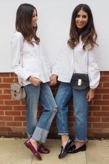 Лоферы женские с джинсами