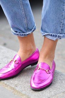 Лоферы женские фиолетовые