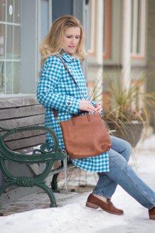 Лоферы женские коричневые кожаные
